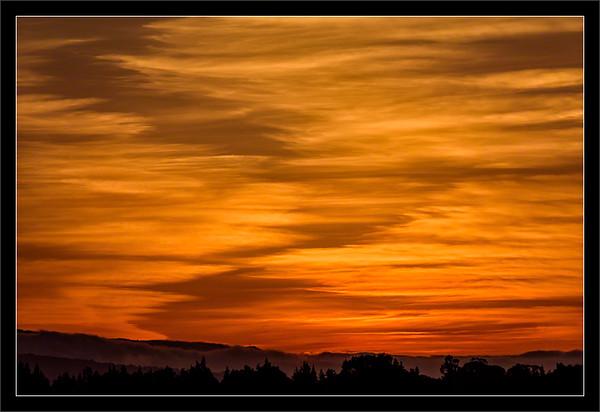 Orange Cirrus Skies
