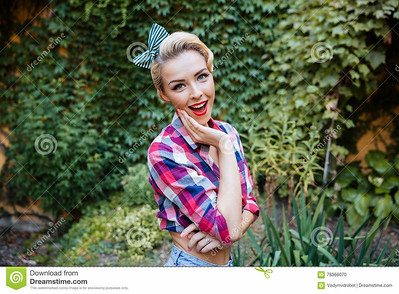 //www.dreamstime.com/stock-photo-happy-amazed-pin-up-girl-standing-park-opened-mouth-image78366070