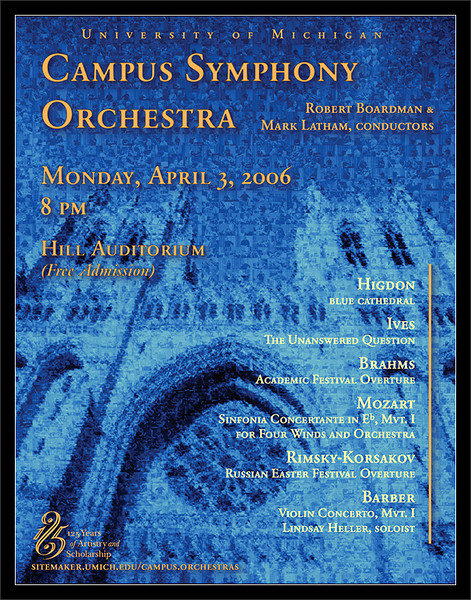 W2006 Poster<br /> <br /> Campus Symphony Orchestra<br /> University of Michigan<br /> W2006 ePoster v2<br /> <br /> 26-MAR-2007