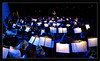 Sea of Lights, Music, and Musicians<br /> <br /> Yaniv rehearses the orchestra<br /> with concert lighting<br /> <br /> Yaniv Segal, assistant conductor<br /> Michigan Pops Orchestra<br /> <br /> Sound-check rehearsal<br /> for Epic Pops concert<br /> <br /> Michigan Theater, Ann Arbor<br /> <br /> 05-APR-2009