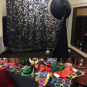 Black with Glitter; Prop Table