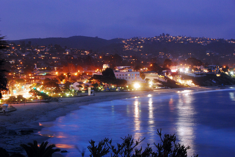Night photography. Laguna Beach