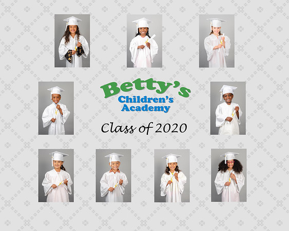 Cap and gown class picture 2020