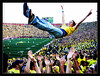 Touchdown Tossing<br /> <br /> Big House celebration of a late fourth-quarter<br /> Michigan touchdown against Wisconsin (Score: 27 to 19)<br /> <br /> Michigan Stadium<br /> University of Michigan, Ann Arbor<br /> <br /> 27-SEP-2008