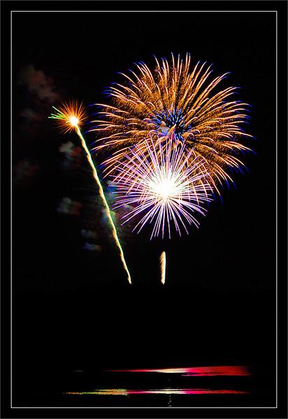 Fourth Fireworks<br /> <br /> Fourth of July fireworks and<br /> reflections over Kent Lake<br /> <br /> Kensington Metropark<br /> <br /> Milford, Michigan<br /> <br /> 04-JUL-2008