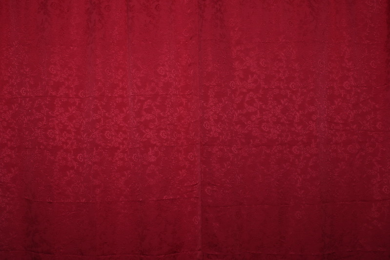Sample of Red Backdrop with pattern