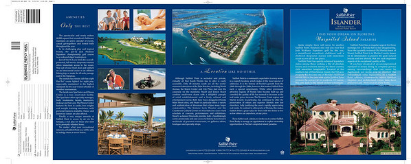 Brochure for luxury golf and marina community.