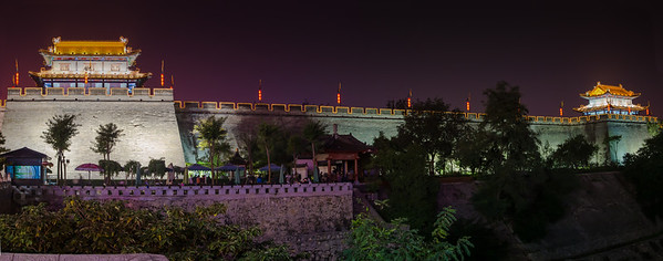 Xian city wall at night, #3