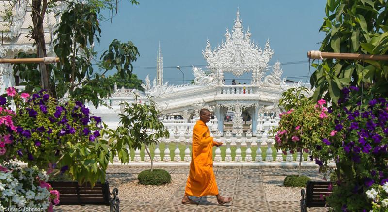 White Temple Monk