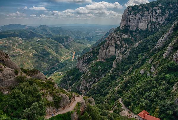 Valleys Below Montserrat