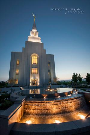Temple Fountain Dusk