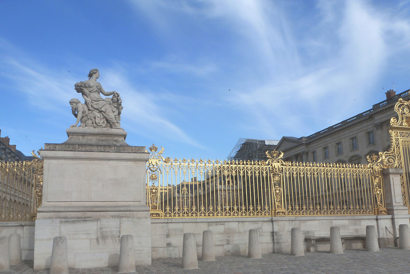 Statue at Gate of Versailles Palace, Paris,<br /> France