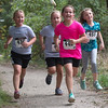 Maggie, Gracie, Adelle and Ruth finish the kids race together.