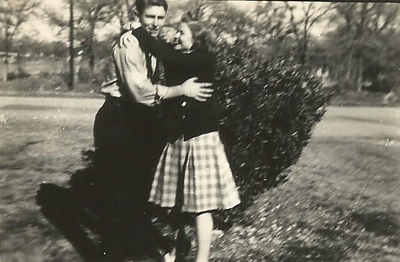 Barbara and Odell January 1946