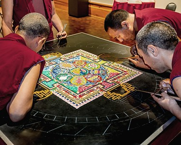 Mandala sand painting at the San Angelo Museum of Fine Arts