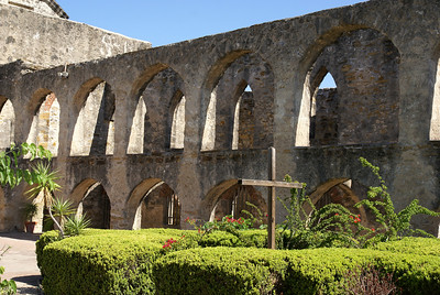 Remains of the two-story convento.
