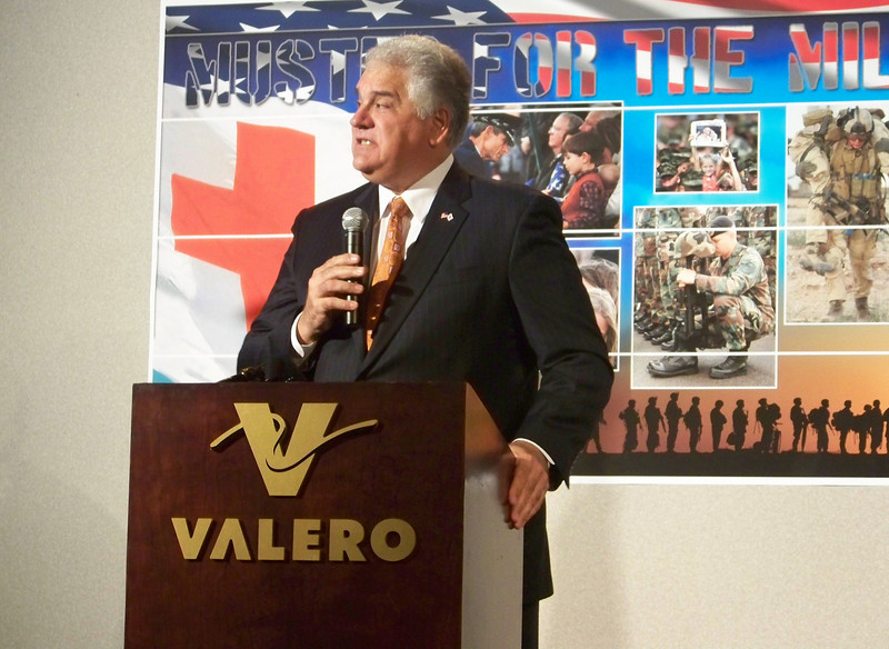 "Jerry DeFrancisco speaks in San Antonio, Texas at the American Red Cross ""Muster for the Military"""