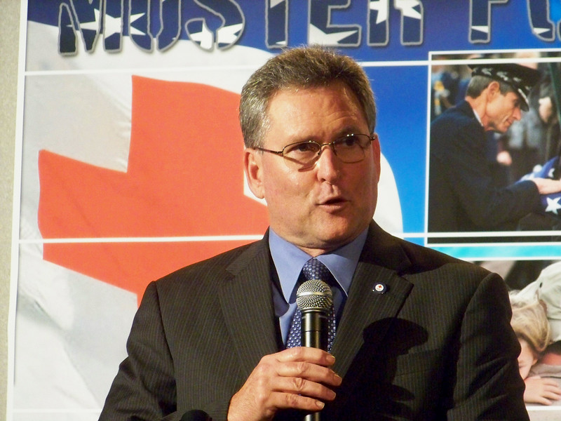 """Michael Bennett, Chief Executive Officer,  American Red Cross San Antonio Area Chapter addressed sell-out crowd at Valero on November 6, 2009. Mr, Bennett recognized the importance of supporting the nations military and the global call to respond around the world.  This was the organization's first """"Muster for the Military"""" event.<br /> <br /> For more information about the American Red Cross San Antonio:  <a href=""""http://www.saredcross.org/"""">http://www.saredcross.org/</a>"""