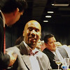 John Villalobos and Bruce Bowen speak at Red Cross fundraiser in San Antonio, Texas.