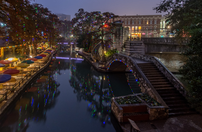 Calmness on the  San Antonio Riverwalk.