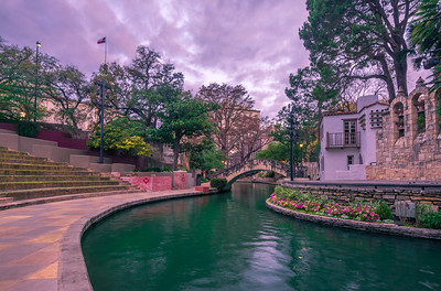 Arneson River Theatre at Sunrise.