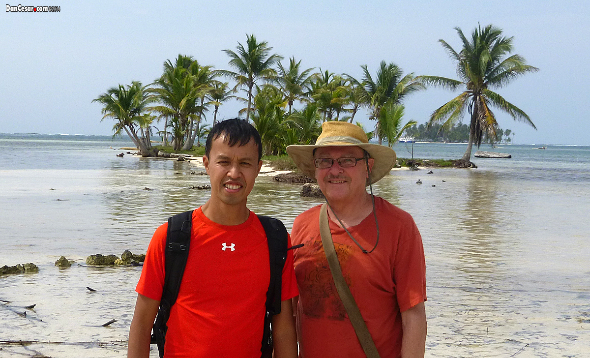 Dan and Cesar in San Blas Islands