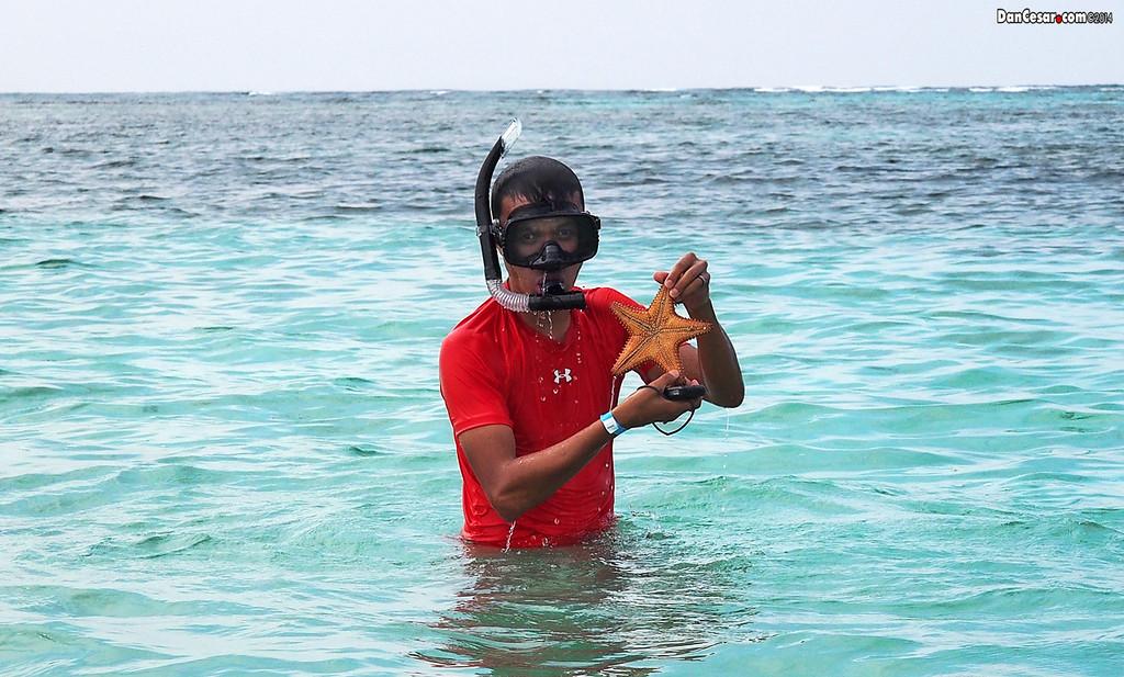 Cesar with a Sea Star