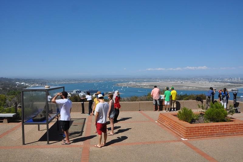 Overlooking North Island  Naval Air Station (Coronado Island/peninsula) and San Diego Bay