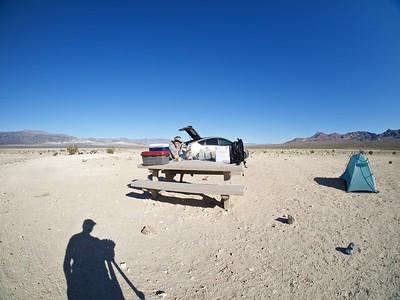 Dry campsite, Eureka Dunes
