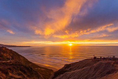 Tonight's colorful sunset at the Torrey Pines Gliderport.  First phase.
