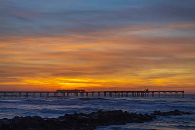 Tonight's Spectacular Surreal Stunning Sunset in Ocean Beach.
