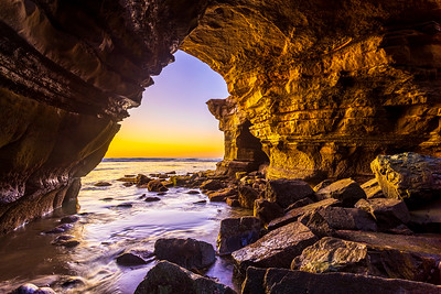 The Sunset Cliffs Sea Cave At Twilight