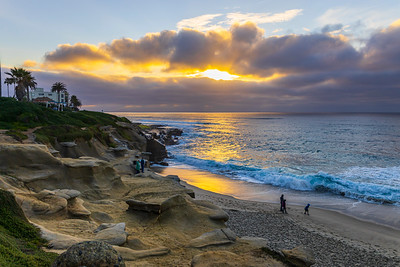 Sunset At The La Jolla Tide Pools Tonight.
