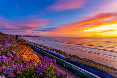 Tonight's Epic Sunset in Del Mar, California