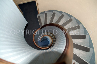 1800 Cabrillo Memorial Drive, San Diego, CA - Point Loma - 1855 Cabrillo Lighthouse Spiral Staircase