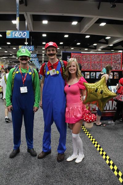 Luigi, Mario, and Princess Peach