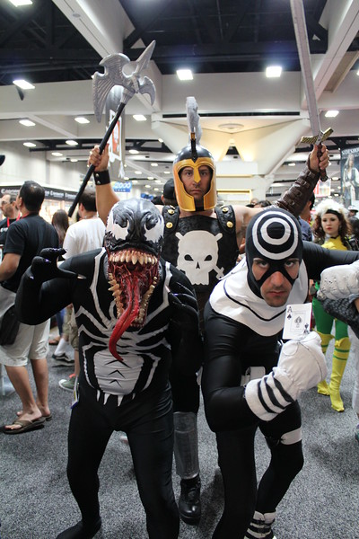 Venom, Ares, and Bullseye