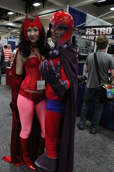 Scarlet Witch and Magneto