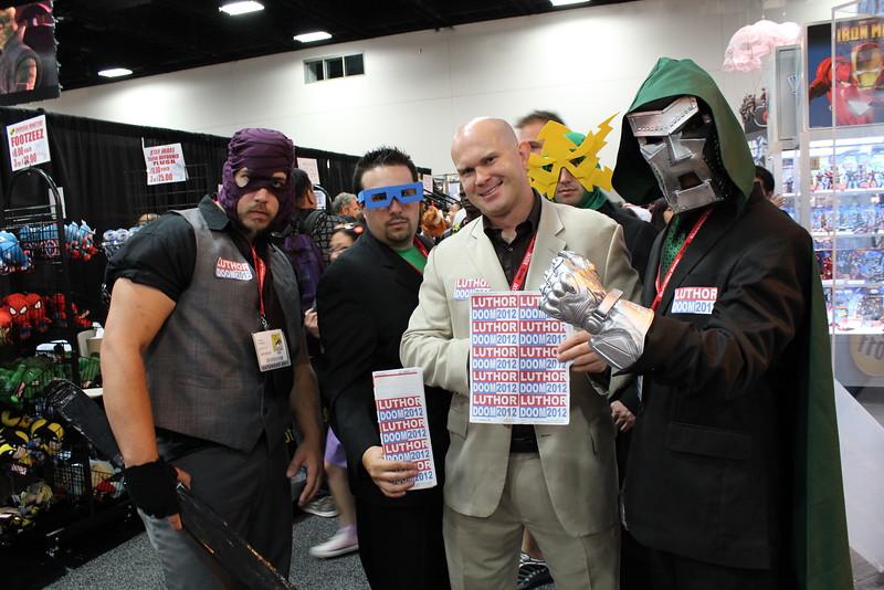 Wrecker, Mole Man, Lex Luthor, Electro, and Dr. Doom