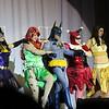 Catwoman, Poison Ivy, Batman, Harley Quinn, and Talia al Ghul