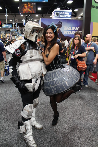 Scout Trooper and Death Star