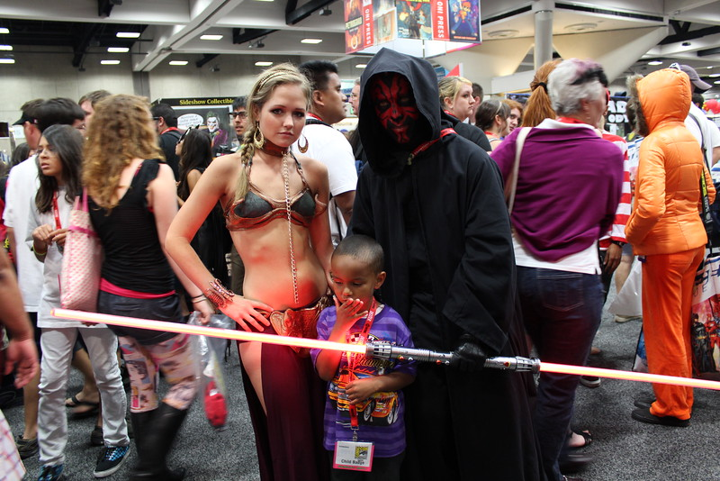 Princess Leia Organa and Darth Maul