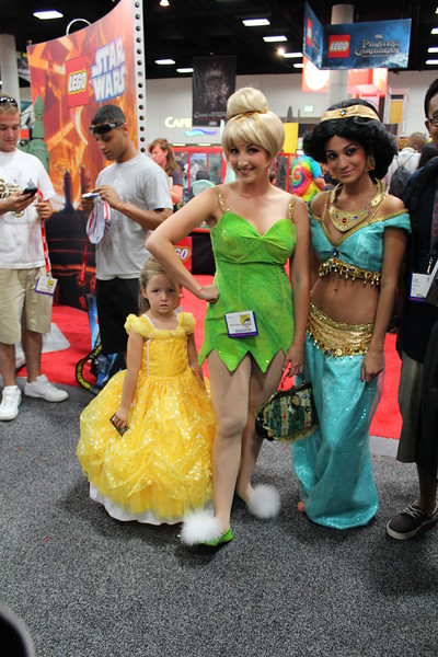 Belle, Tinker Bell, and Princess Jasmine