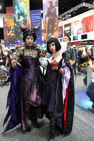 Maleficent and Queen Grimhilde