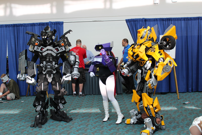 Barricade, Shockwave, and Bumblebee
