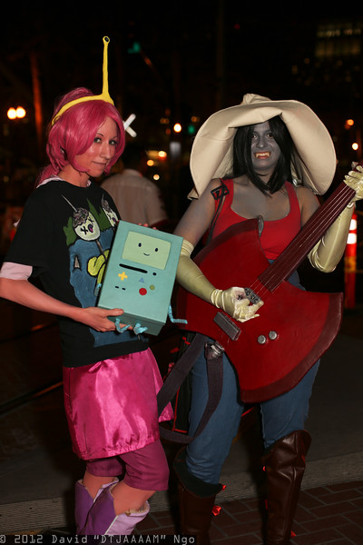 Princess Bubblegum, Marceline, and BMO
