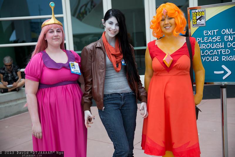 Princess Bubblegum, Marceline, and Flame Princess