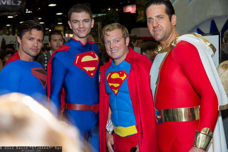 Supermen and Captain Marvel
