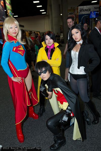 Supergirl, Jubilee, Robin, and Zatanna