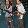 Lara Croft and Nathan Drake